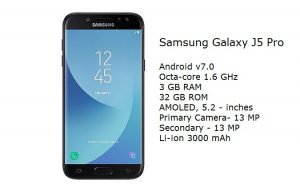 Samsung Galaxy J5 Pro specification processor