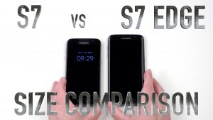 Samsung Galaxy S7 vs s7 edge size compariosn samsungmobilespecs